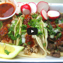 Tacos de carnitas light