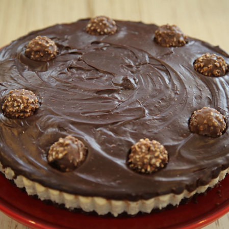 Cheesecake de ferrero rocher